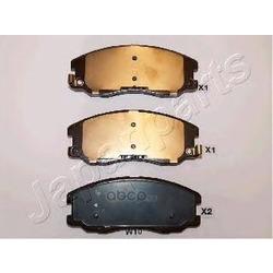 Комплект тормозных колодок, дисковый тормоз (Japanparts) PAW10AF