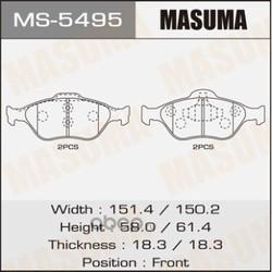 Колодки тормозные (Masuma) MS5495
