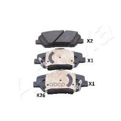 Комплект тормозных колодок (Ashika) 500KK26