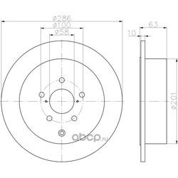 Тормозной диск (Hella) 8DD355116421