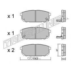 Задние тормозные колодки (Hyundai-KIA) 583023EE00