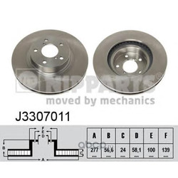 Тормозной диск (Nipparts) J3307011