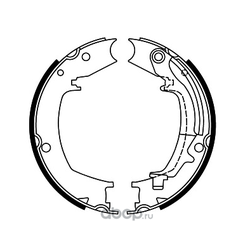 Колодки стояночного тормоза (FIT) FT2100