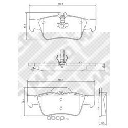 Комплект тормозных колодок, дисковый тормоз (Mapco) 6795