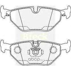 Комплект тормозных колодок, дисковый тормоз (BRECK) 216910070200