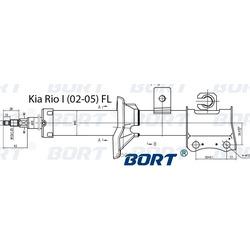 Стойка амортизационная газомасляная передняя левая (BORT) G22045125L