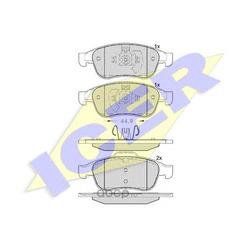 Комплект тормозных колодок, дисковый тормоз (Icer) 181915