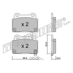 Комплект тормозных колодок, дисковый тормоз (Trusting) 8430