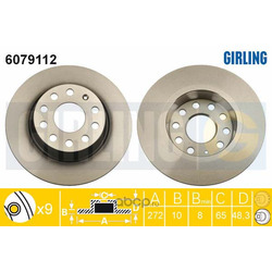Тормозной диск (Girling) 6079112
