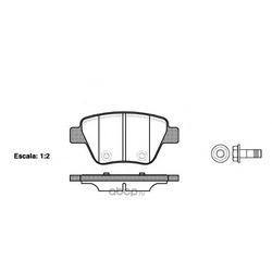 Комплект тормозных колодок, дисковый тормоз (Remsa) 142000