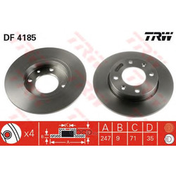 Тормозной диск (TRW/Lucas) DF4185