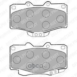 Комплект тормозных колодок, дисковый тормоз (Delphi) LP854