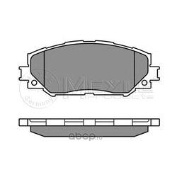 Комплект тормозных колодок, дисковый тормоз (Meyle) 0252433617