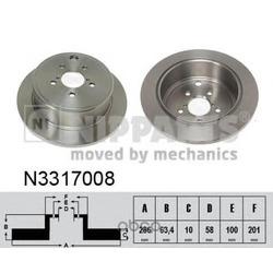 Тормозной диск (Nipparts) N3317008