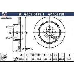 Тормозной диск (GALFER) B1G20901391