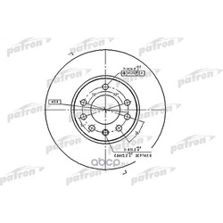 Диск тормозной передний (PATRON) PBD4048