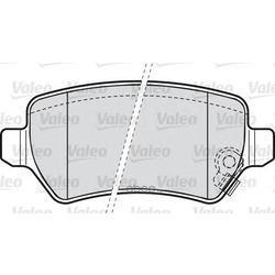 Комплект тормозных колодок, дисковый тормоз (Valeo) 598584