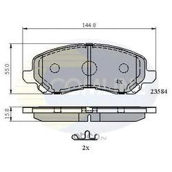 Комплект тормозных колодок, дисковый тормоз (Comline) CBP31256