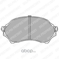 Комплект тормозных колодок, дисковый тормоз (Delphi) LP1440