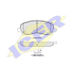 Комплект тормозных колодок, дисковый тормоз (Icer) 181806