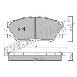 Комплект тормозных колодок, дисковый тормоз (Trusting) 7630