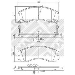Комплект тормозных колодок, дисковый тормоз (Mapco) 6783