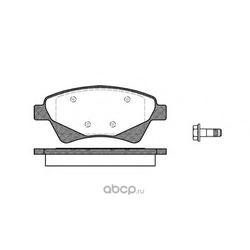Комплект тормозных колодок, дисковый тормоз (Remsa) 097620