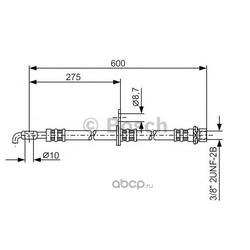 Тормозной шланг (Bosch) 1987476246