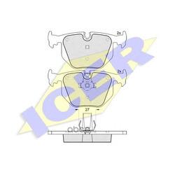 Комплект тормозных колодок, дисковый тормоз (Icer) 181549