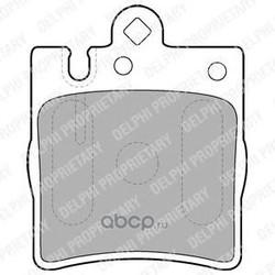 Комплект тормозных колодок, дисковый тормоз (Delphi) LP1618