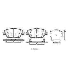 Комплект тормозных колодок, дисковый тормоз (Remsa) 142302