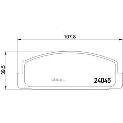 Комплект тормозных колодок, дисковый тормоз (Mintex) MDB2309