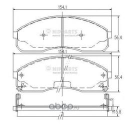 Комплект тормозных колодок, дисковый тормоз (Nipparts) J3600310