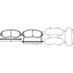 Комплект тормозных колодок, дисковый тормоз (Remsa) 117112