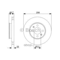 Диск тормозной вентилируемый (Bosch) 0986479367