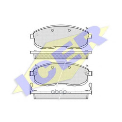 Комплект тормозных колодок, дисковый тормоз (Icer) 181101