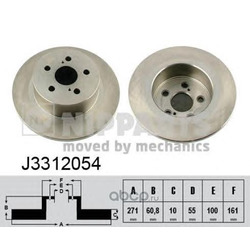 Тормозной диск (Nipparts) J3312054