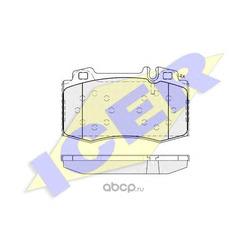 Комплект тормозных колодок, дисковый тормоз (Icer) 181389