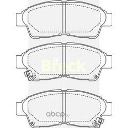 Комплект тормозных колодок, дисковый тормоз (BRECK) 216010070110