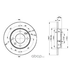 Тормозной диск (Icer) 78BD4746