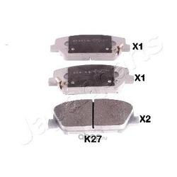 Комплект тормозных колодок (Japanparts) PAK27AF
