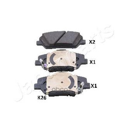 Комплект тормозных колодок (Japanparts) PAK26AF