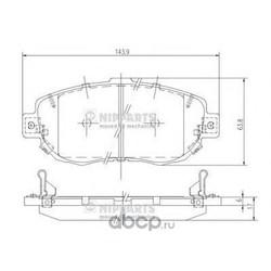 Комплект тормозных колодок, дисковый тормоз (Nipparts) J3602072