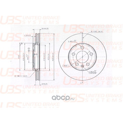 Диск тормозной V | перед | (UBS) B2102001