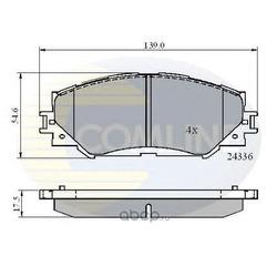 Комплект тормозных колодок, дисковый тормоз (Comline) CBP01515