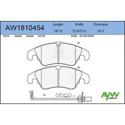 Колодки тормозные передние (AYWIparts) AW1810454
