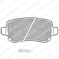 Комплект тормозных колодок, дисковый тормоз (Delphi) LP1717