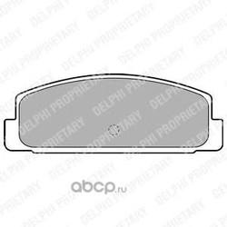 Комплект тормозных колодок, дисковый тормоз (Delphi) LP1766