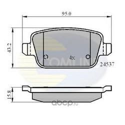 Комплект тормозных колодок, дисковый тормоз (Comline) CBP01610