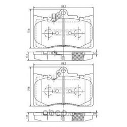 Комплект тормозных колодок, дисковый тормоз (Nipparts) N3602134